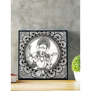 Framed Mandala art with Ganapati