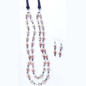 Dholki Beads Necklace Set
