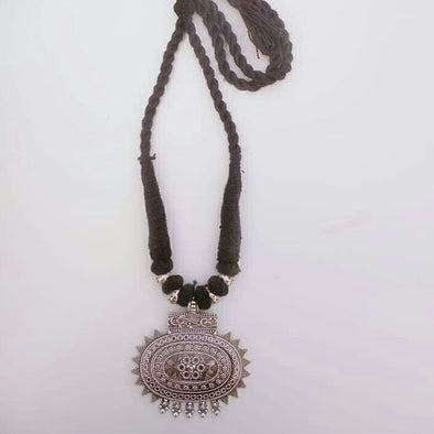 German Silver Thread Necklace 2