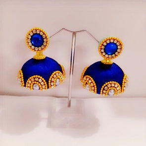 Silk Thread Bridal Jhumkas 1