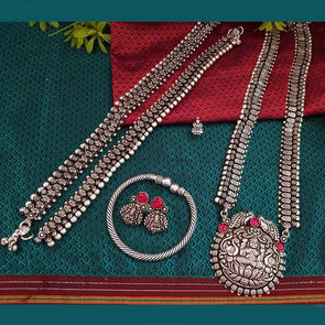Lakshmi German Silver Necklace Set 30