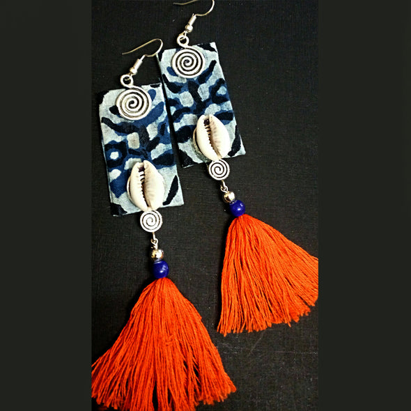 Elegant Indigo Earrings