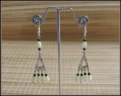 Yellow and Green beads dangler