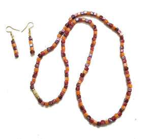 Itsy Bitsy Kolkata Handmade Multicolor Ceramic Beaded Necklace Set
