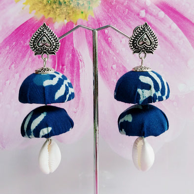 Indigo Blue Step Jhumka