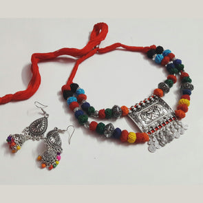 Multicolour Cotton Thread Neckpiece