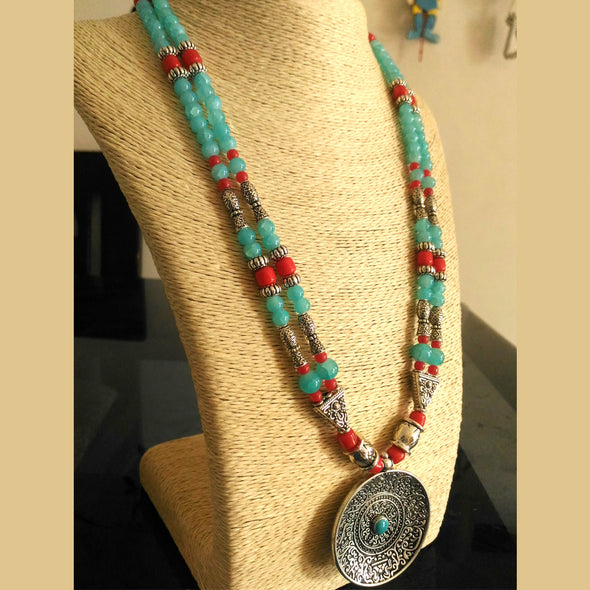 Two Way Two Layered Necklace Set