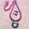 Pink Rounded Necklace Set