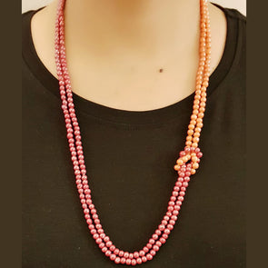 The Bead Story - Orange Beads Necklace