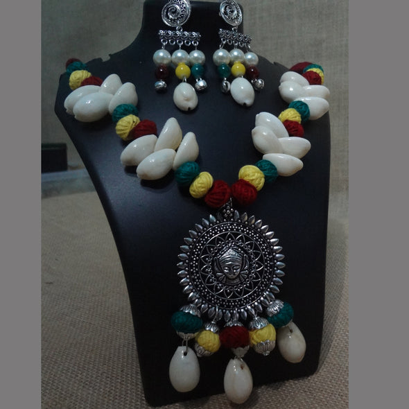 Cowrie Durga Necklace Set