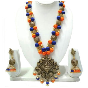 Silk Thread Necklace Set 18