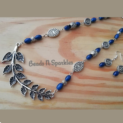 Blue Bough Necklace Set