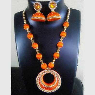 Silk Thread Necklace Set 6