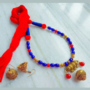 Blue Red Neckpiece