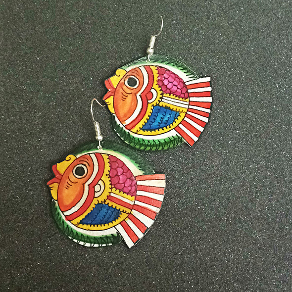 Tholu Bommalata Fish Earrings