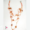 Triple Layered Mop Bead Necklace with Danglers
