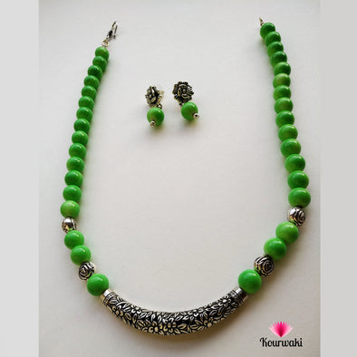 Lime-Green Necklace Set