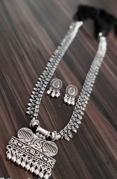 German silver long necklace 2