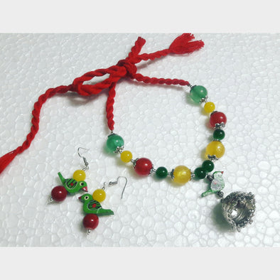Parrot Jhumka Necklace