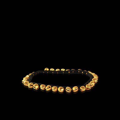 Black and Gold Bells Anklet