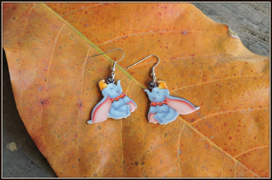 Dumbo, the flying Elephant Earrings 01