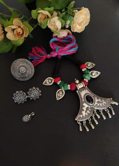 German silver ethnic necklace 1