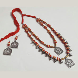 Wood Beads Padma Neckpiece