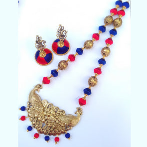 Mayuri Antique Peacock Necklace Set