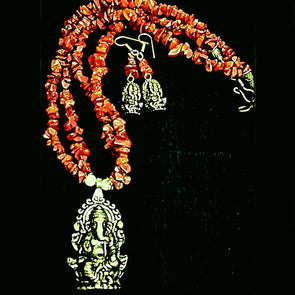 Lord Ganesha Necklace Set