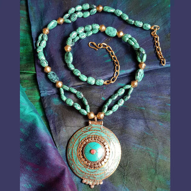 The Bead Story - Turquoise Blue Bead Long Necklace