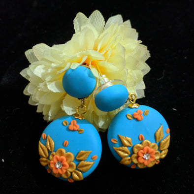 Floral Embroidery Danglers