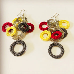 German Silver Crochet Rings Earrings