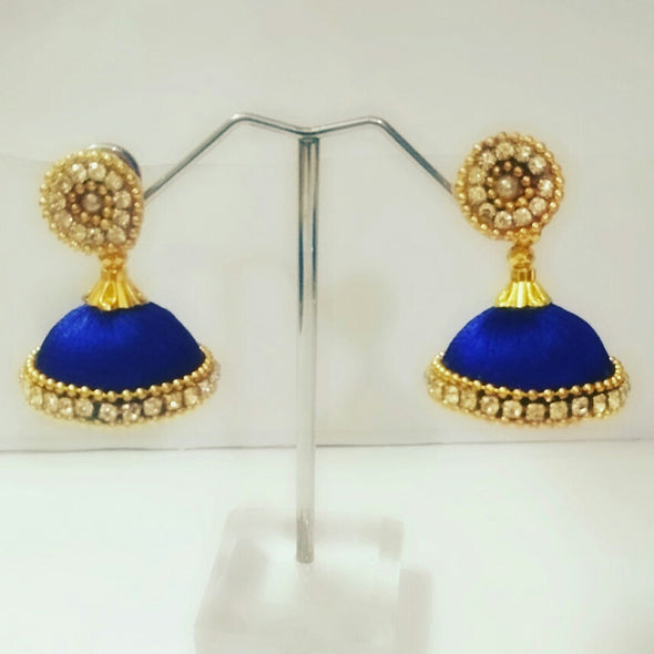Silk Thread Jhumkas 4