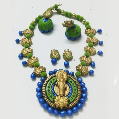 Terracotta Laxmi Necklace