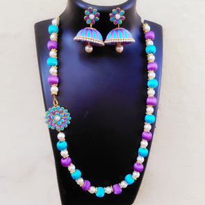 Silk Thread Paachi Necklace Set 1