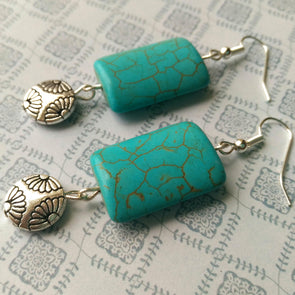 Cool Turquoise Earrings