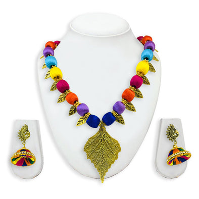 Silk Thread Necklace Set 19