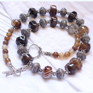 Brown Agates Necklace