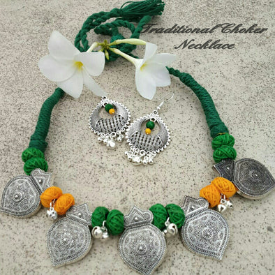 German Silver Necklace Set 80