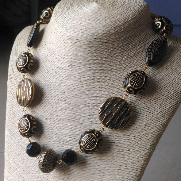 Black Bold Chain Necklace