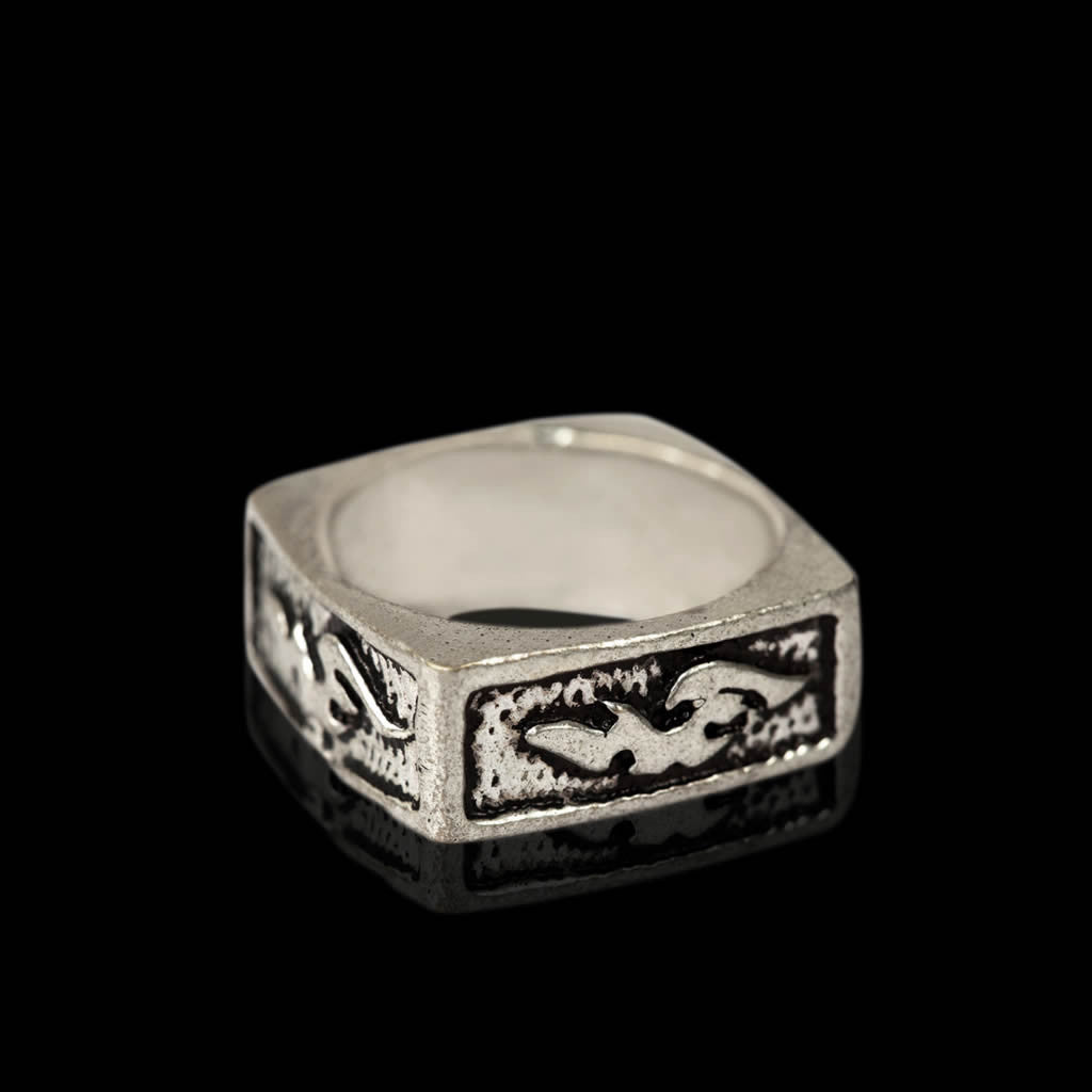 Square Ring German Silver