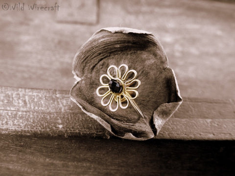 Black Flower Faux Nose Ring