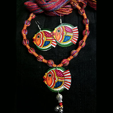 Tholu Bommalata Necklace Set