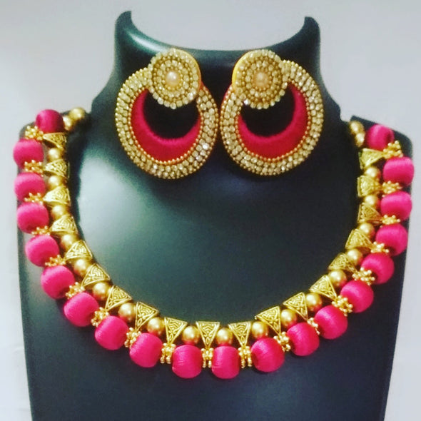 Silk Thread Bali Necklace Set