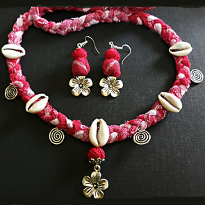 Gamchha Neckwear and Earring Set