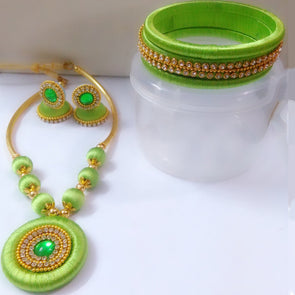 Silk Thread Necklace Set 3