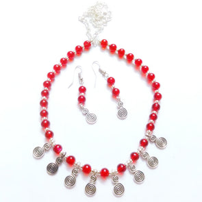 Beads and German Silver Necklace