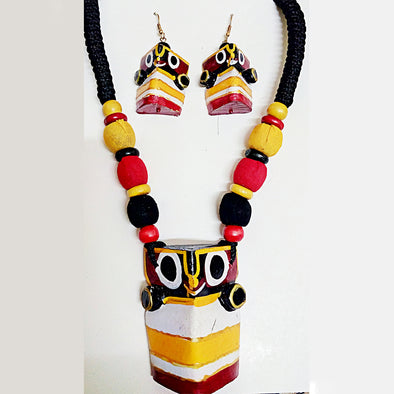 Lord Jagannath Necklace Set