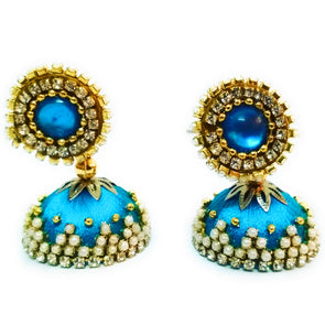 Silk Thread Jhumkas 8