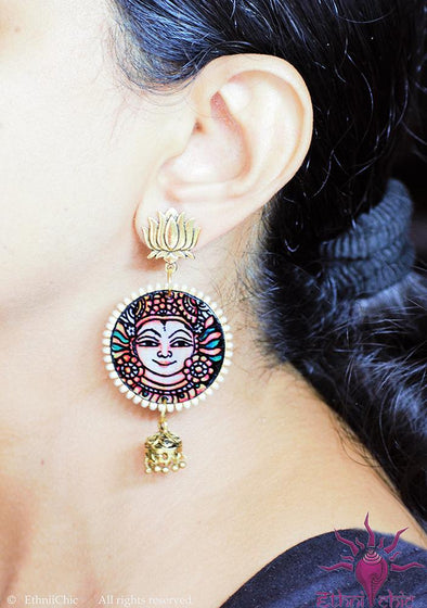 Handpainted Mural Earrings 5